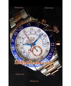 Rolex Imitation Yachtmaster II Montre Suisse Or Rose Deux Tons- Montre Imitation Exacte 1:1
