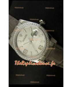 Rolex Imitation Datejust Montre Suisse Reproduction - 37MM - Cadran/Bracelet Gris