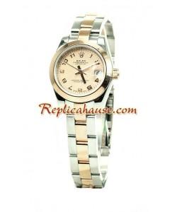 Rolex Replique Datejust Femmes Montre - Pink d' or