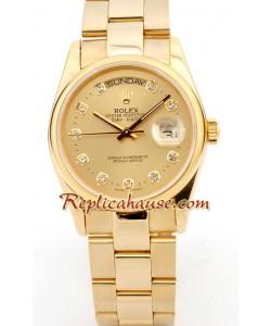 Rolex Replique Day Date-Rose d' or