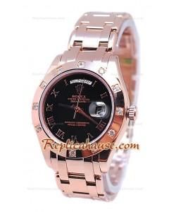 Rolex Day Date Diamond Bezel Or Rose Montre Suisse