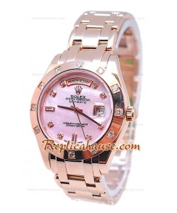 Rolex Day Date Diamond Bezel and Hour Markers Or Rose Montre Suisse