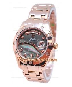 Rolex Day Date Noir Perle Cadran Montre Suisse