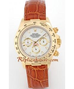Rolex Replique Daytona 18K d' or Montre with Bracelet en Cuir