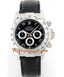 Rolex Replique Daytona Montre with Bracelet en Cuir