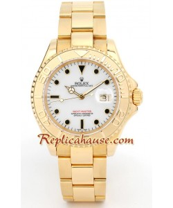 Rolex Yacht Master d' or - White Face