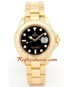 Rolex Yacht Master d' or - Black Face