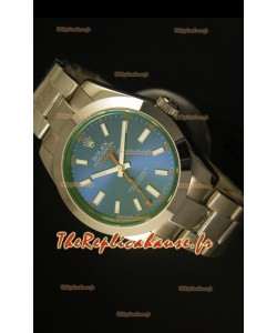 Montre suisse Rolex Milgauss 116400GV avec cadran bleu