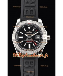 Breitling Avenger II montre suisse en acier GMT 1:1 Edition ultime - cadran noir