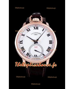Chopard Louis-Ulysse L'hommage montre suisse en or rose cadran blanc