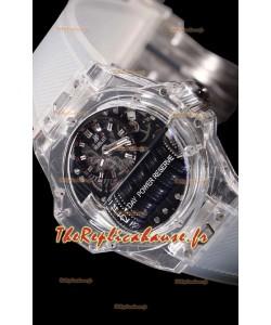 Hublot Big Bang MP-11 montre suisse réplique en saphir avec fonction réserve de marche