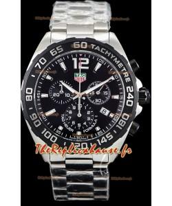 Tag Heuer Formule 1 montre réplique suisse chronographe à Quartz en cadran noir