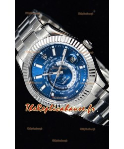 Rolex SkyDweller montre suisse avec boîtier en acier - cadran bleu édition DIW