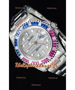 Rolex GMT Masters II glacé montre suisse avec boîtier en acier 904L
