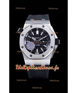 Audemars Piguet Royal Oak Offshore Diver 904L Montre miroir réplique en acier 1:1