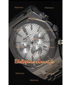Montre Audemars Piguet Royal Oak Suisse à Chronographe avec Cadran argenté à quartz Réplique — 41mm