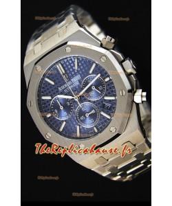 Montre Audemars Piguet Royal Oak Suisse réplique à Chronographe en quartz avec un cadran bleu -41mm