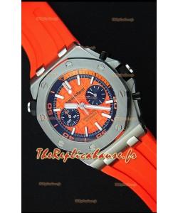 Montre Audemars Piguet Royal Oak Offshore réplique à chronographe de plongée suisse à quartz en orange