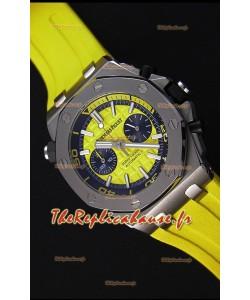Montre Audemars Piguet Royal Oak Offshore Suisse réplique à Chronographe de plongée à quartz en jaune