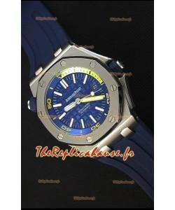 Montre Audemars Piguet Royal Oak Offshore Réplique de plongée japonaise automatique en bleu foncé