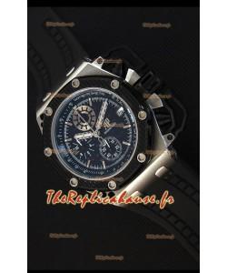 Montre Audemars Piguet Royal Oak Survivor Chronographe Suisse Réplique à chronographe avec quartz en cadran Noir