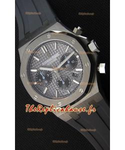 Montre Audemars Piguet Royal Oak Suisse à Chronographe avec Cadran Gris ardoise et un Bracelet en Caoutchouc Réplique