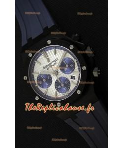 Montre Audemars Piguet Royal Oak Suisse à Chronographe Cadran argenté et Sous-Cadran bleu Réplique