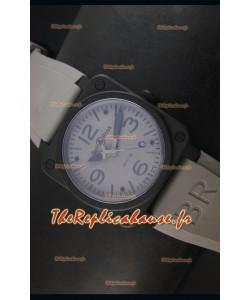 Montre Replica Suisse Bell & Ross BR03-92 avec Cadran Gris
