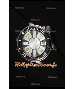 Reproduction de Montre Suisse Blancpain 500 Fathoms avec un Cadran Blanc - 1:1 Edition Miroir