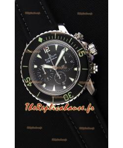 Blancpain Blancpain Fifty Fathoms chronographe Flyback Noir 1:1 Montre Réplique Miroir