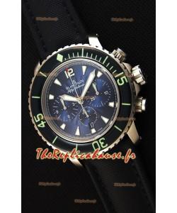 Blancpain Blancpain Fifty Fathoms chronographe Flyback Bleu 1:1 Montre Réplique Miroir