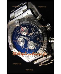 Montre Breitling Avenger à Chronographe Suisse avec Cadran Noir Répliquée à l'identique 1:1