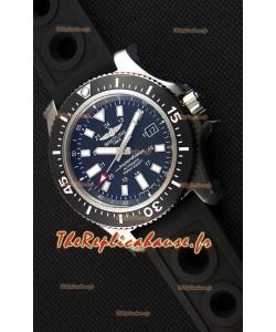 Montre Breitling SuperOcean44 Suisse en acier spécial avec bracelet en caoutchouc Réplique