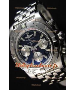 Montre Breitling ChronomatB01 Suisse Version Miroir Ultime Cadran Noir Repliquée à l'identique 1:1