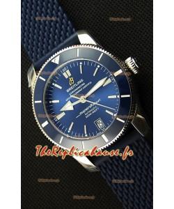 Montre Breitling SuperOcean HeritageII B20 42mm Suisse cadran bleu Réplique à l'identique - 1:1 Édition miroir
