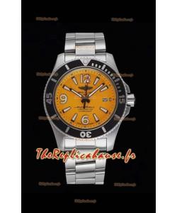 Breitling Superocean Automatic 44 Steel - Réplique du miroir à cadran jaune 1:1