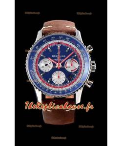 Chronographe Breitling Navitimer 1 B01 PAN AM Edition 43MM - 904L 1:1 Montre miroir réplique