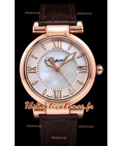 Chopard Imperiale White Dial Swiss Automatic Replica Watch dans un boîtier en or rose 904L Steel