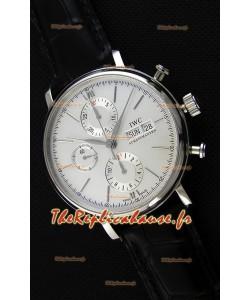 IWC Portofino chronographe IW391007 Cadran Blanc 1:1 Montre Réplique Miroir