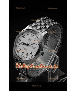 IWC MARK XVIII Montre suisse réplique en acier 904L cadran blanc 40MM - Réplique miroir 1:1