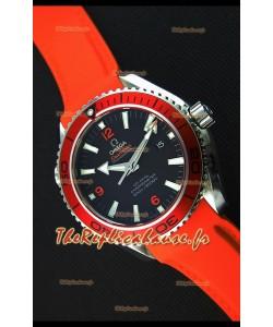 Montre Omega Seamaster Planet Ocean 45mm Suisse Bracelet Orange, Édition Ultime, Répliquée à l'identique 1:1