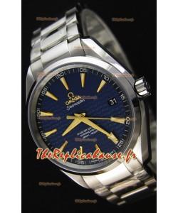 Montre Omega Seamaster Aqua Terra Co-Axial Suisse Édition Limitée Bleu Répliquée à l'identique 1:1