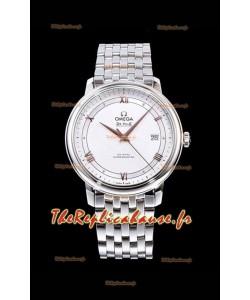 Montre Omega De Ville Prestige Co-Axial 36.8MM cadran blanc 1:1 réplique miroir suisse