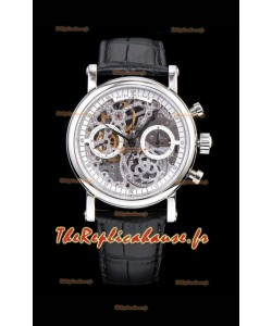 Patek Philippe Complications Montre chronographe squelette dans un boîtier en acier 904L