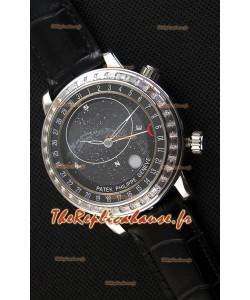Montre Patek Philippe Grand Complication6102P Suisse Celestial Moon Age Cadran Gris Répliquée