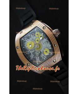 Montre Richard Mille RM018 Tourbillon Hommage A Boucheron Suisse Boîtier Jaune Or