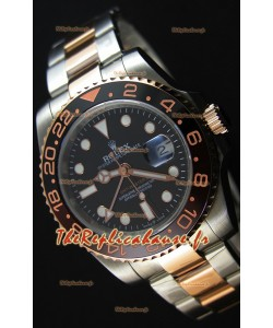 Montre Rolex GMT MastersII 126711CHNR Everose Gold Etui en acier Oyster Suisse Répliquée à l'identique 1:1