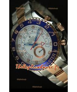 Rolex Yachtmaster II Deux Tons Or Rose - Réplique 1: 1 (Chronomètre Fonctionnel)