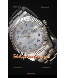 Rolex Datejust II 41MM avec Mouvement Cal.3136  Montre Réplique Suisse avec chiffres arabes
