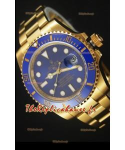 Rolex Submariner 16618 Montre Réplique 1:1 en Or avec Cadran céramique et Mouvement Suisse 3135